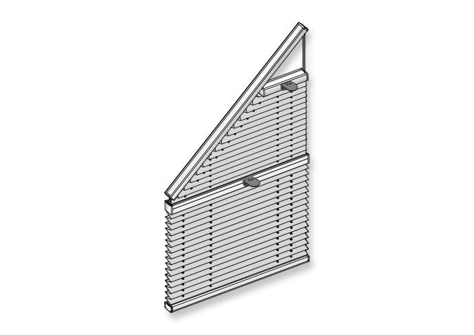 Plissee für schräges Viereckfenster