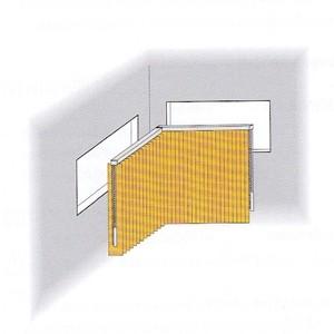 Lamellenvorhang für Eckfenster
