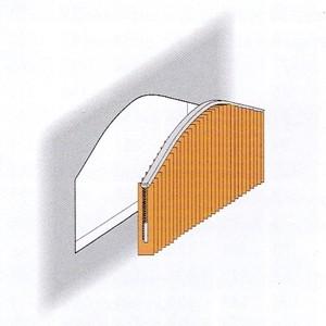 Lamellenvorhang mit gebogener Lamallenschiene