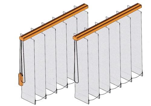 Lamellenanlage für gerade Fenster