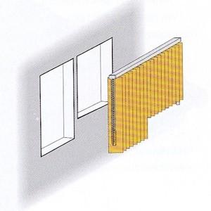 Lamellenvorhang mit verschiedenen Lamellenlängen