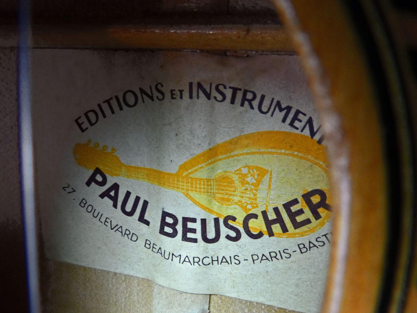 ca. 1940 Guitarra Paul Beuscher