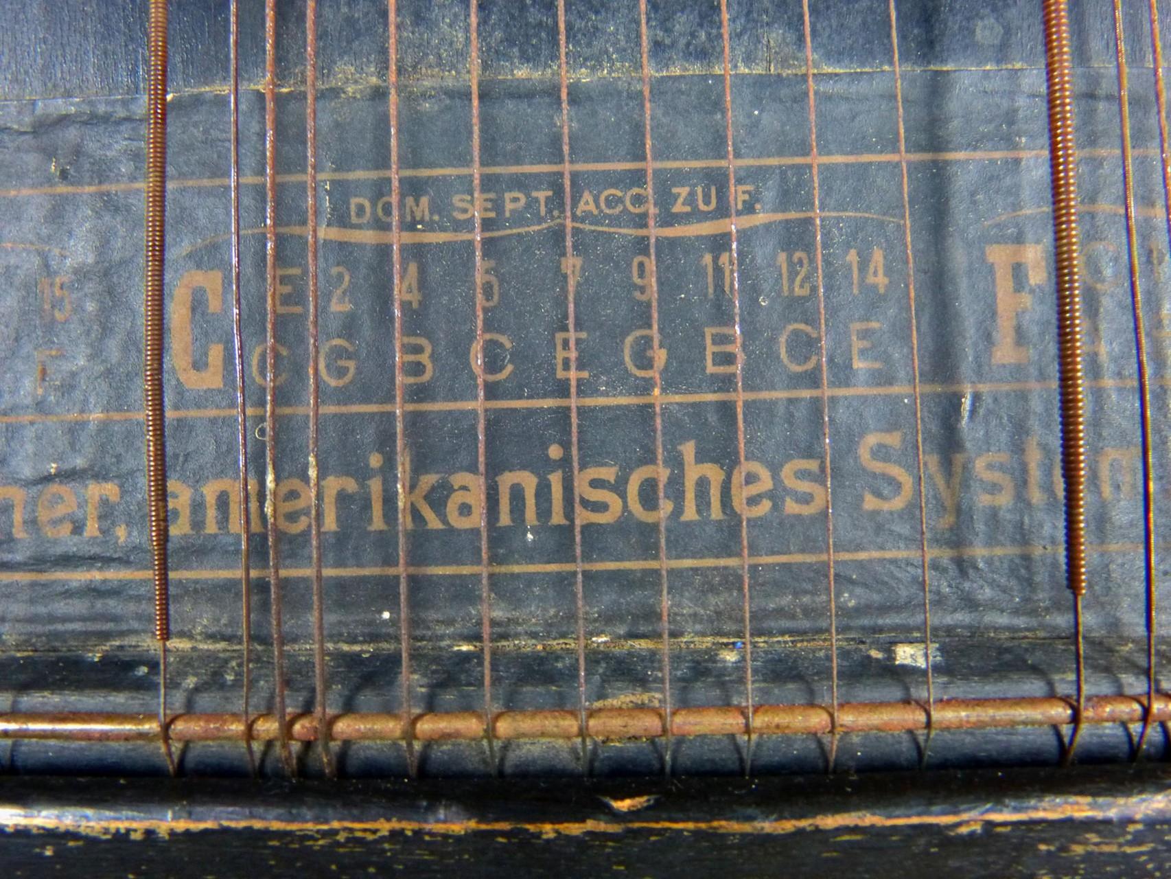 1915 Cítara de acordes AEOL Amerikanisches Harfen-Zither