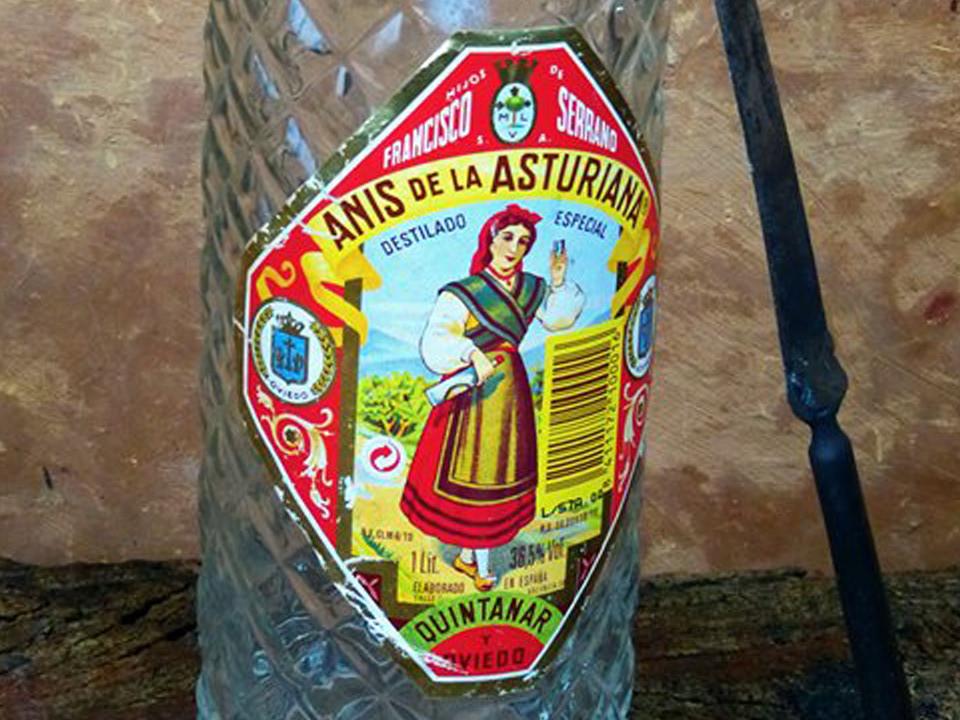 1960 Botella de anís