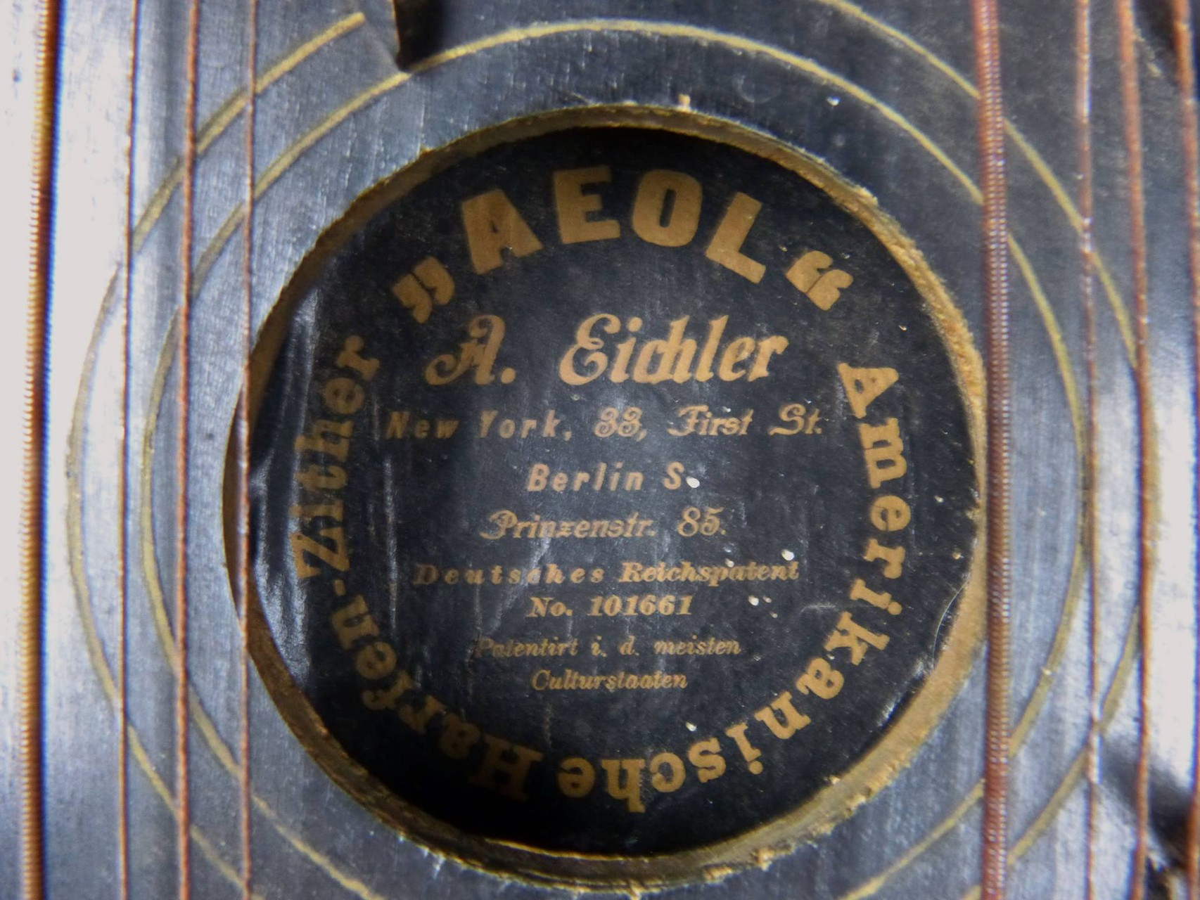 1915 AEOL Amerikanisches Harfen-Zither