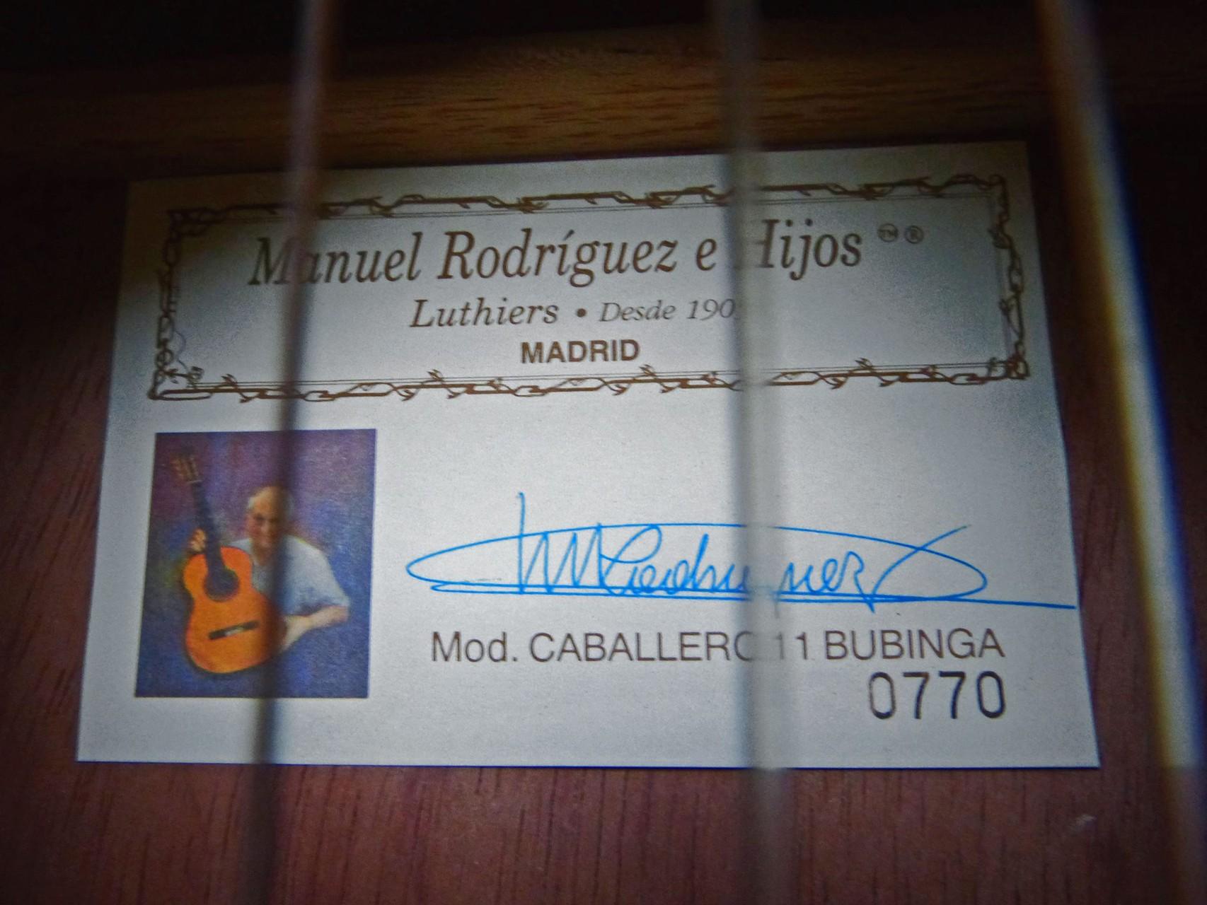 1996 Guitarra flamenca  Manuel Rodríguez