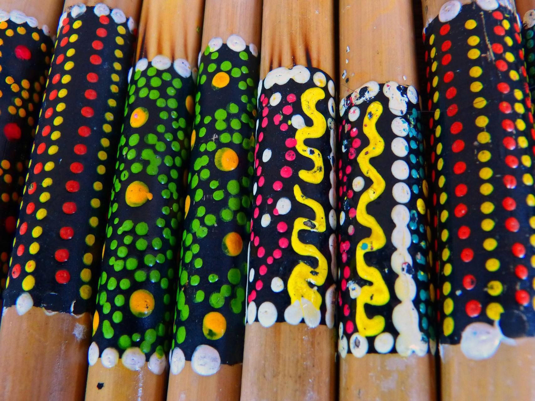 2005 Flautas de émbolo policromadas