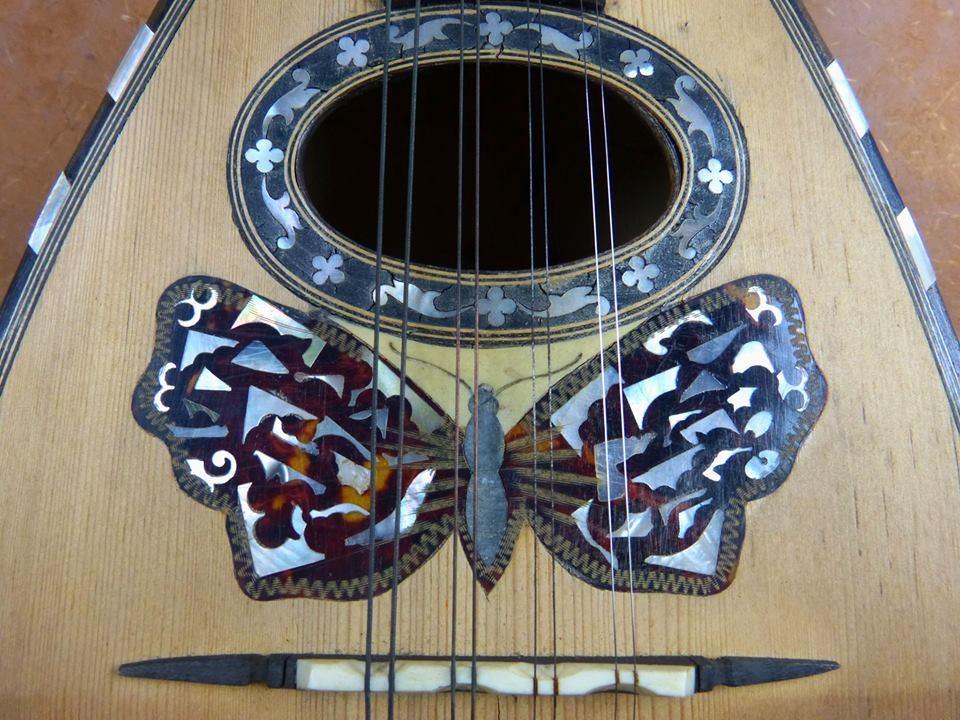 1890 1900 Mandolina con mariposa