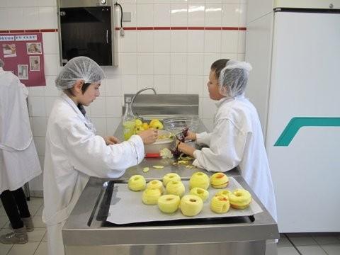 Préparation des pommes