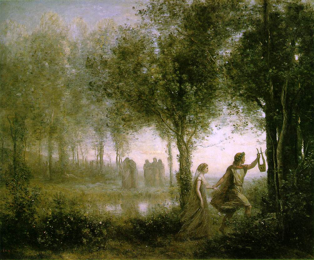 J.B.C Corot, Orphée et Eurydice.