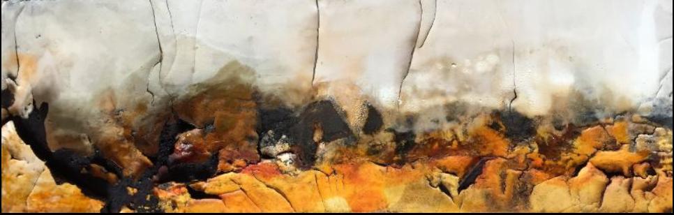 Doreen Pruntsch - Unter Spannung - Mixed Media, 120 x 40 cm, 2016
