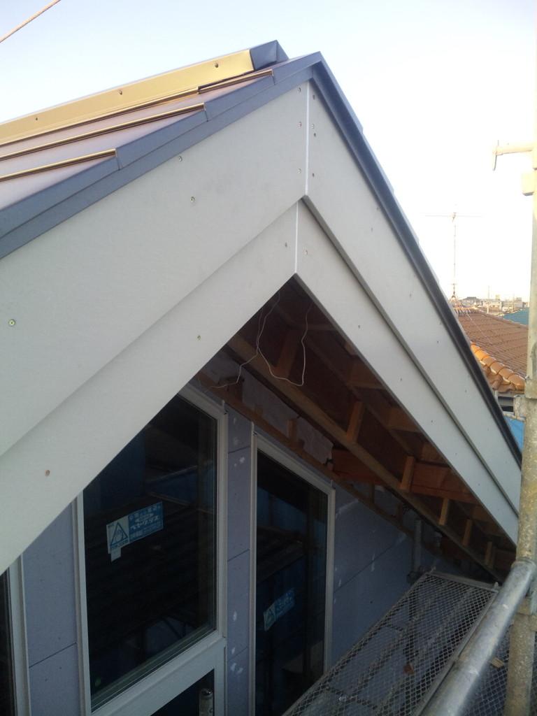 防火破風板工事 通気工法