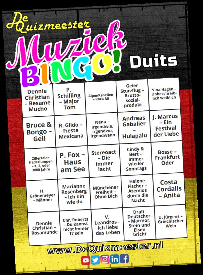 Muziekbingo Duits