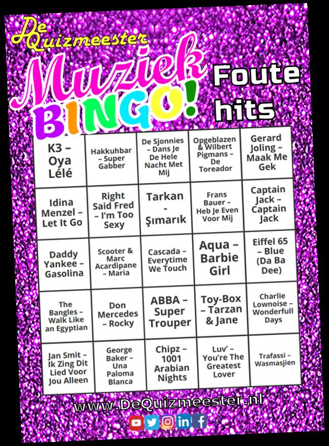 Muziekbingo Foute hits