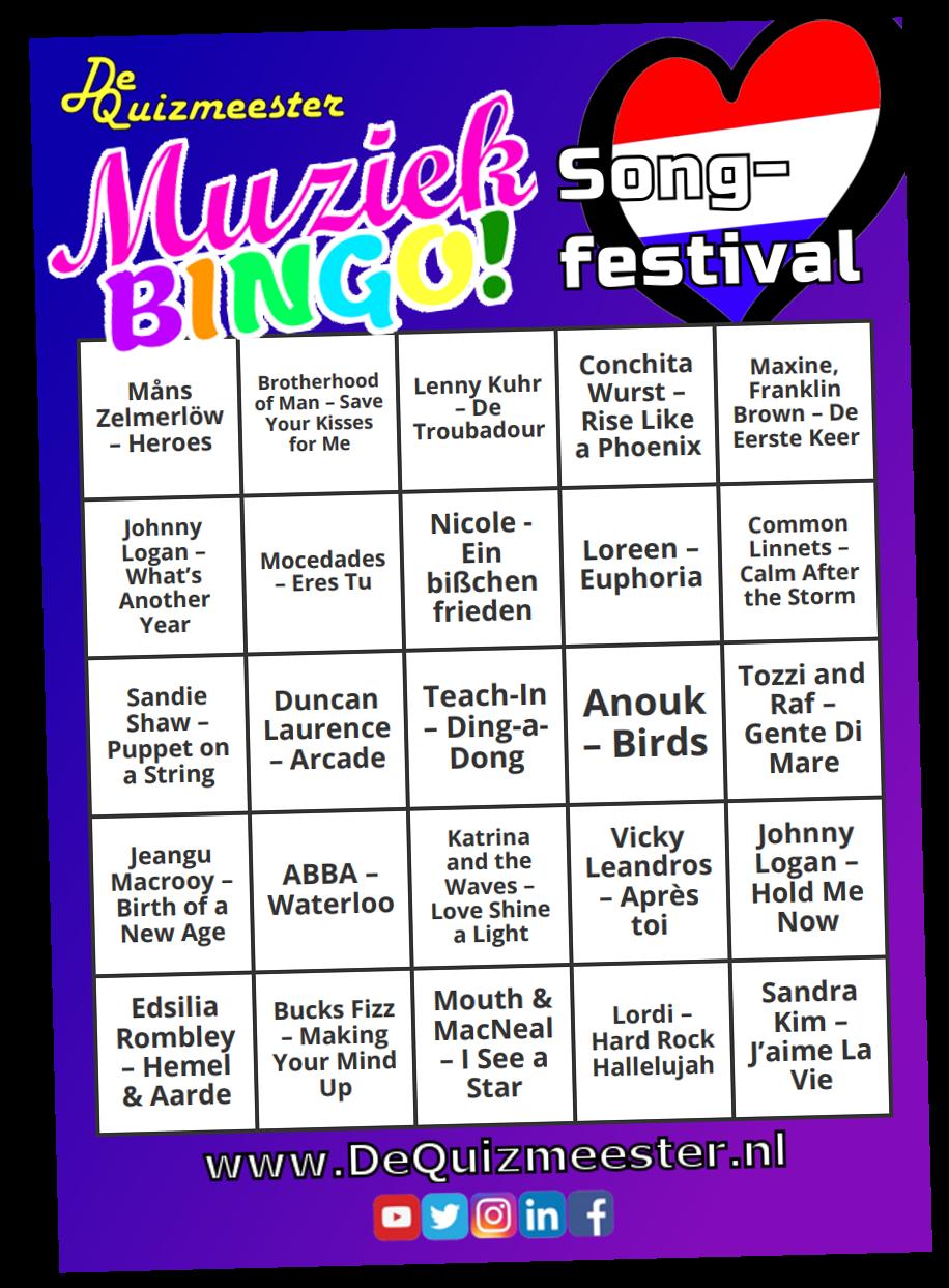 Muziekbingo Songfestival