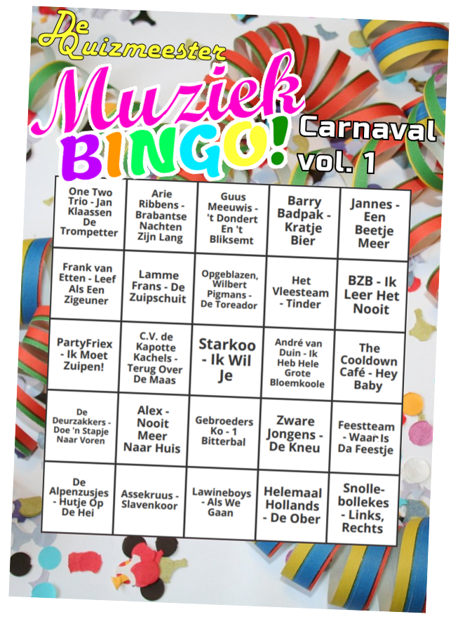 Muziekbingo Carnaval