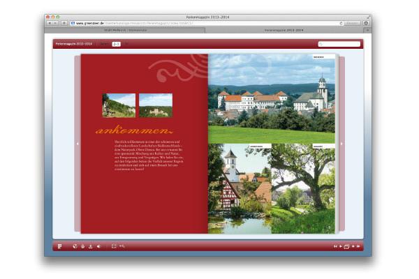 Interaktive Ausgabe Tourismusbroschüre
