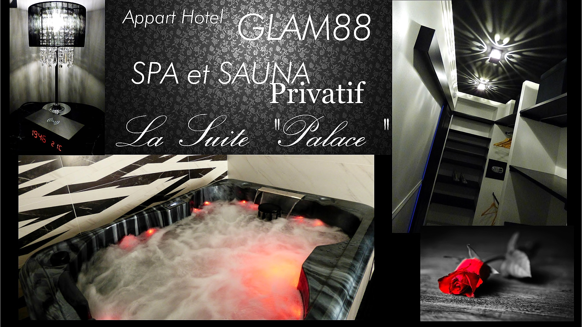 Suite avec Jacuzzi privatif - une Nuit en Bed and Spa