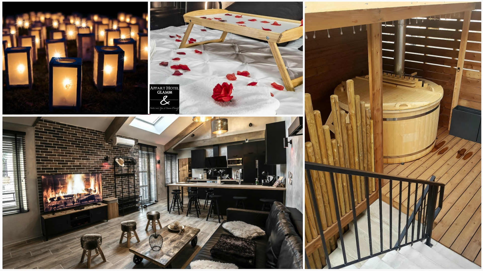 Séjour Cocooning - Bain Finlandais LE LOFT Appart hotel Glam88 Vosges