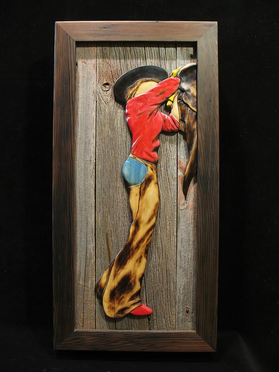 Cowgirl cabinet door