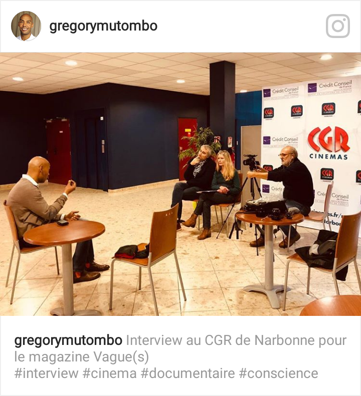 vague(s) : interview Grégory Mutombo au CGR de Narbonne - Catherine Bécam vague(s) - Philippe Kern et Stéphane Kowalczyk Ecran Local