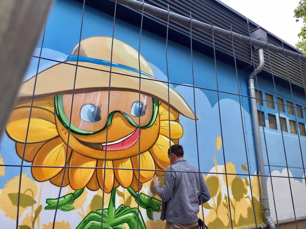 Fassadengraffiti Künstler Sebastian Knospe