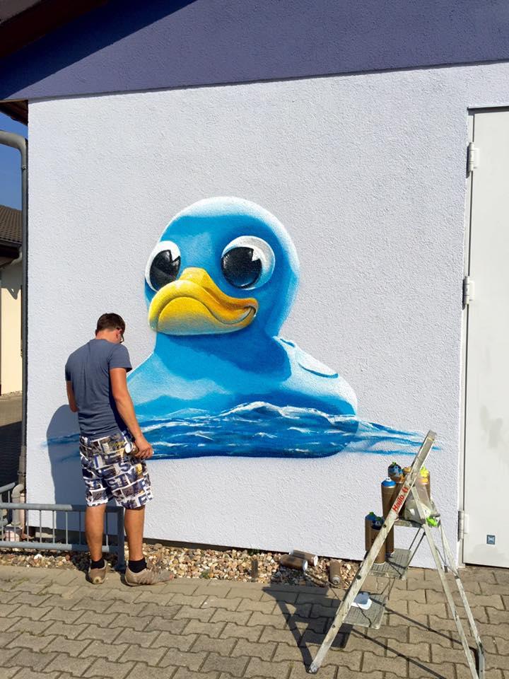 Schwimmbad und pool Graffiti Malerei