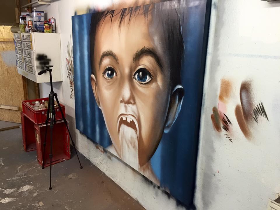 graffiti malen sprühdose