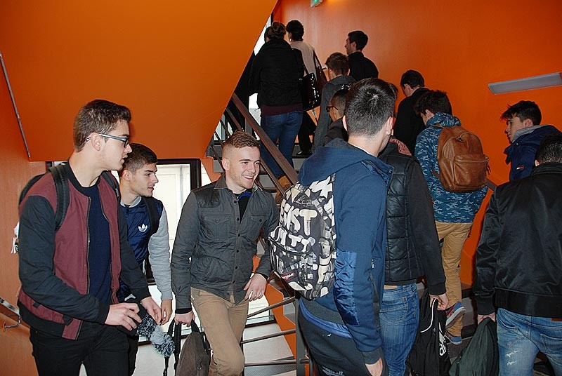 IES Sainte-Marie | L'escalier principal (3 novembre 2014)