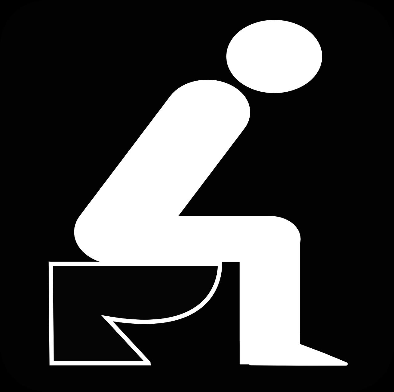 Dann stell dir doch einfach vor, er sitzt auf der Toilette ...