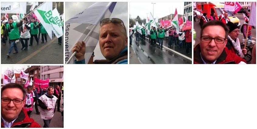 Hans-Hemut Lucht, Christian Page und Tade Peetz - engagiert bei Gewerkschaften bzw. Berufsverbänden