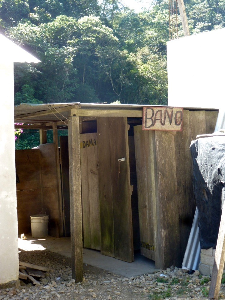 Typical roadside bathroom