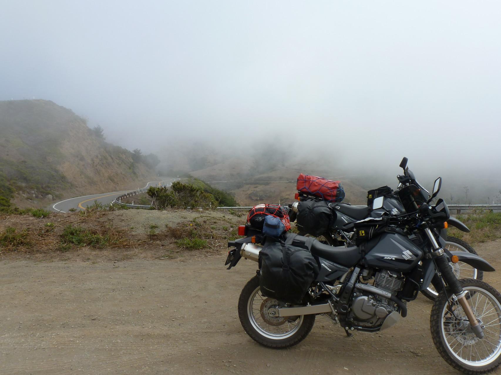 Foggy morning ride down Hwy 1