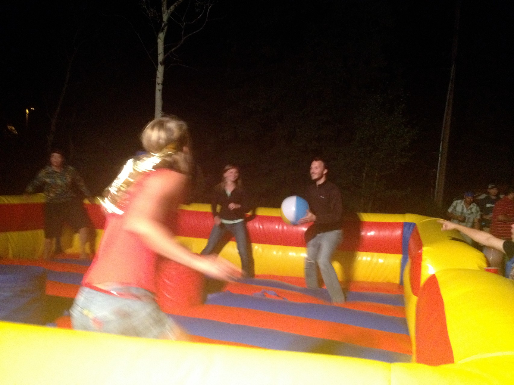 And of course, bouncy dodge ball...