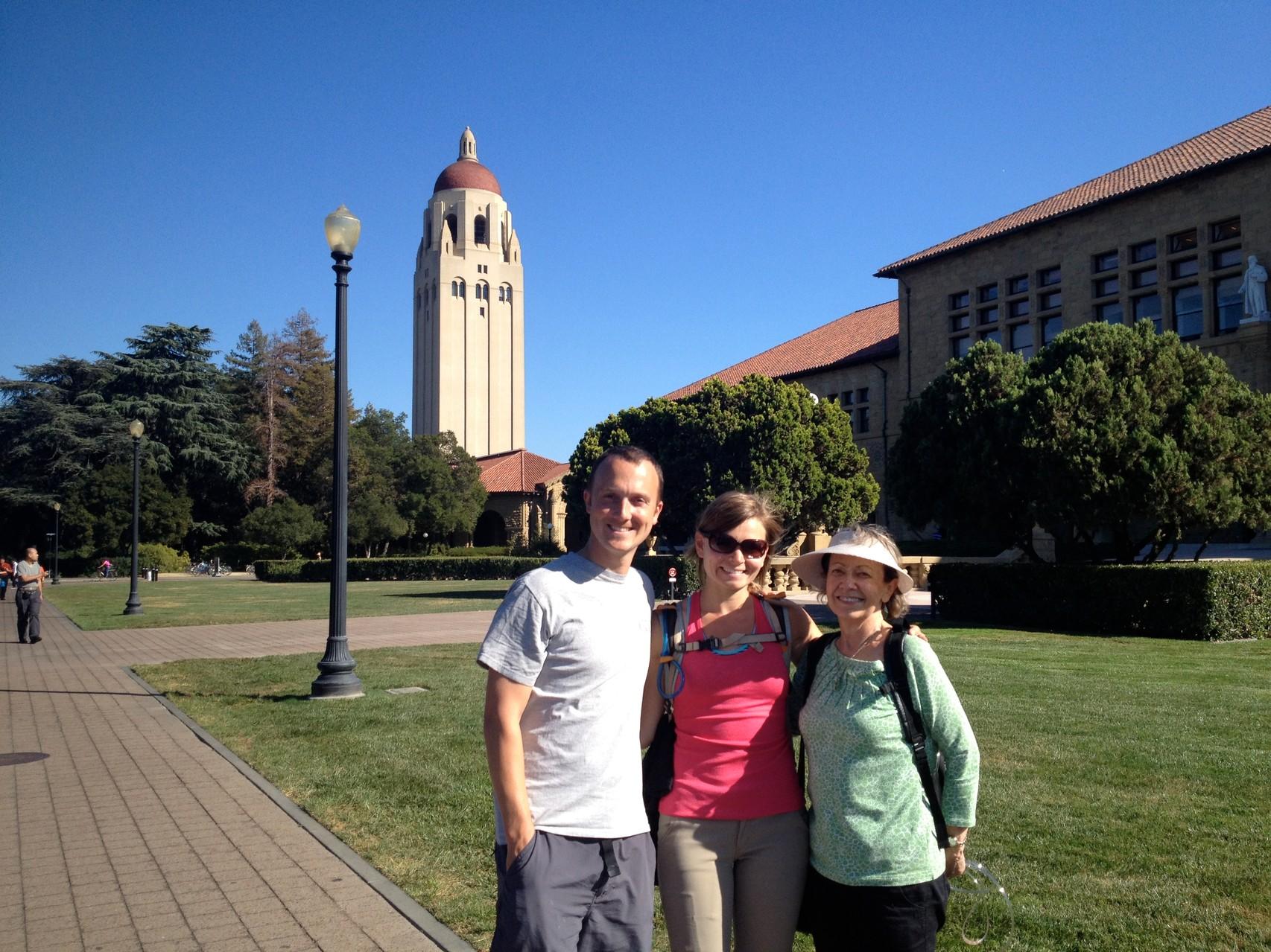 Aunt Eva showing us around Stanford