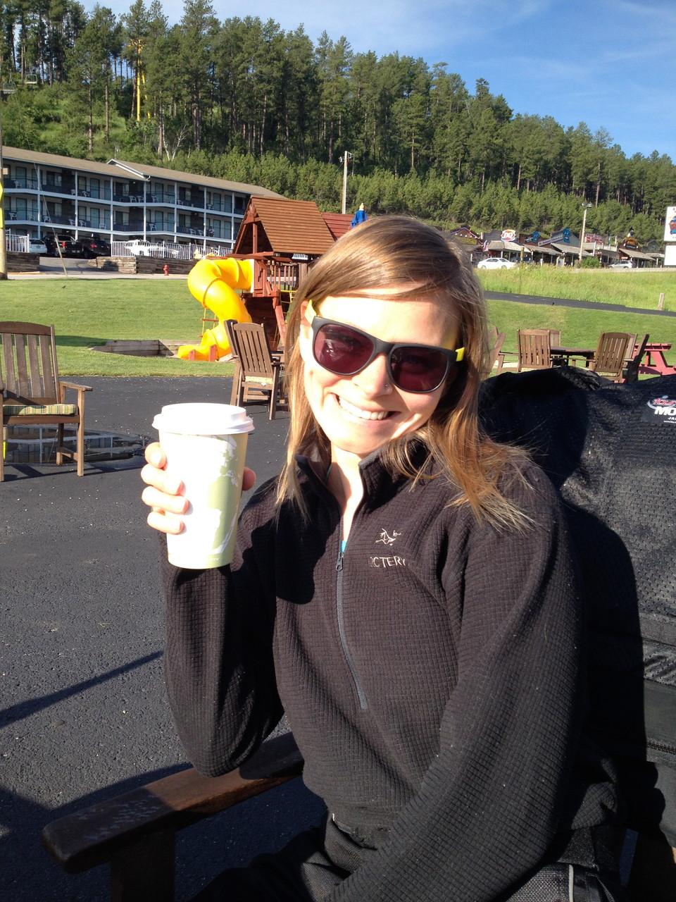 Enjoying some 30th birthday coffee