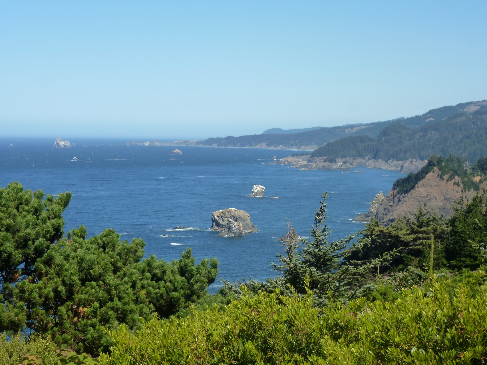 Another gorgeous lunch spot near Crescent City, CA...