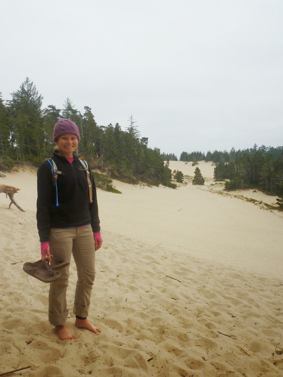Quick stop to play around on the Oregon sand dunes
