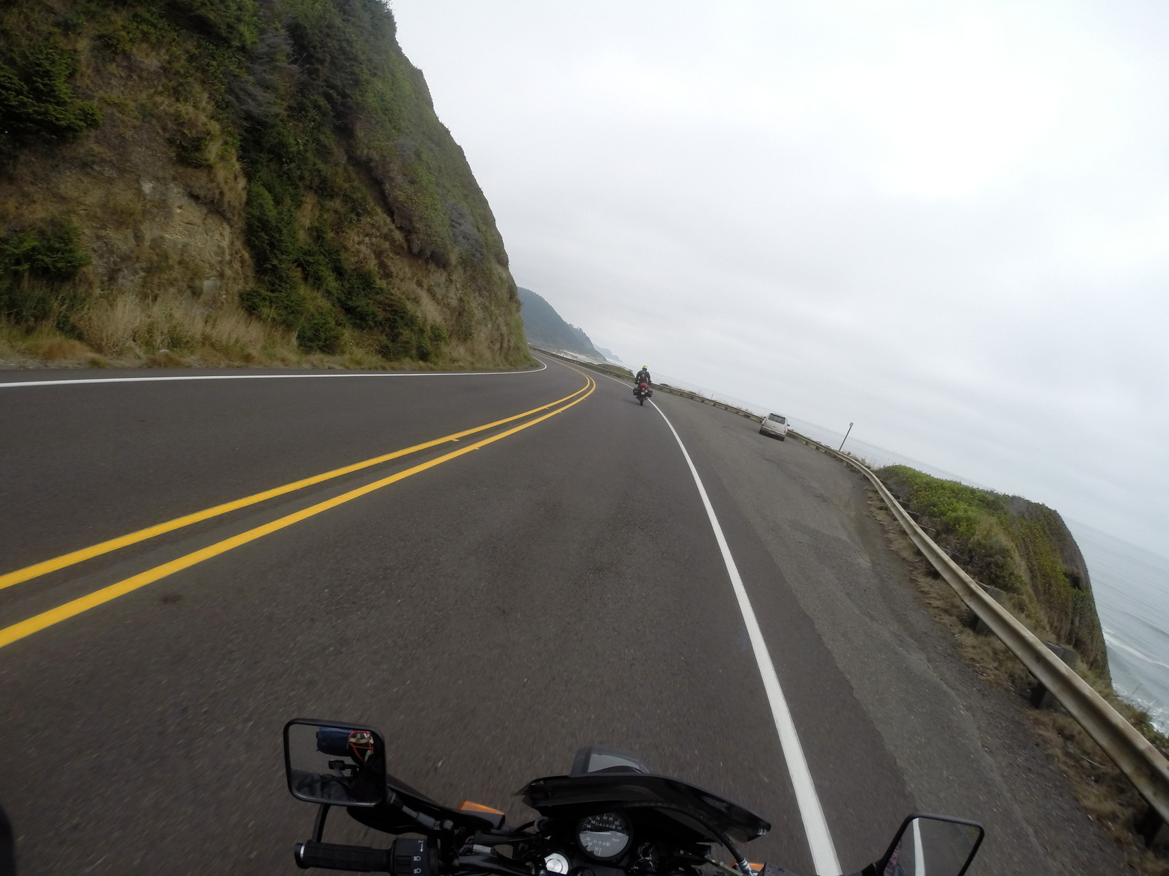 The start of many days of beautiful coastal riding- on the 101S