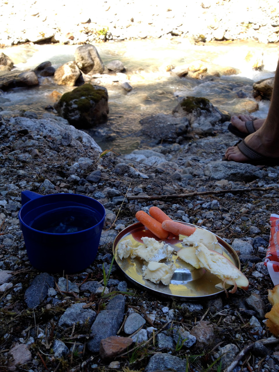 Treated to a delicious snack curtosy of friendly camping neighbors