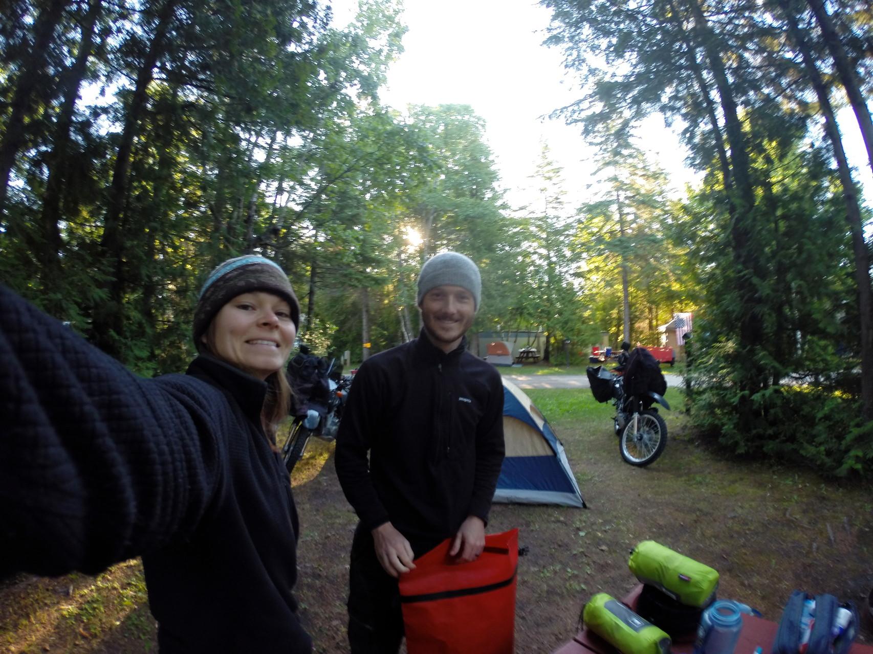 First night camping in St.Ignace, Michigan