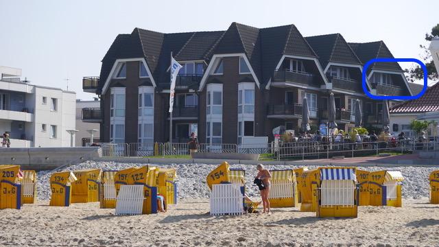 Die Lage der Ferienwohnung Nr. 38 in der Residenz Meeresbrandung