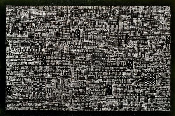 All over II (encre de Chine & acrylique sur toile - 200 x 300 cm)