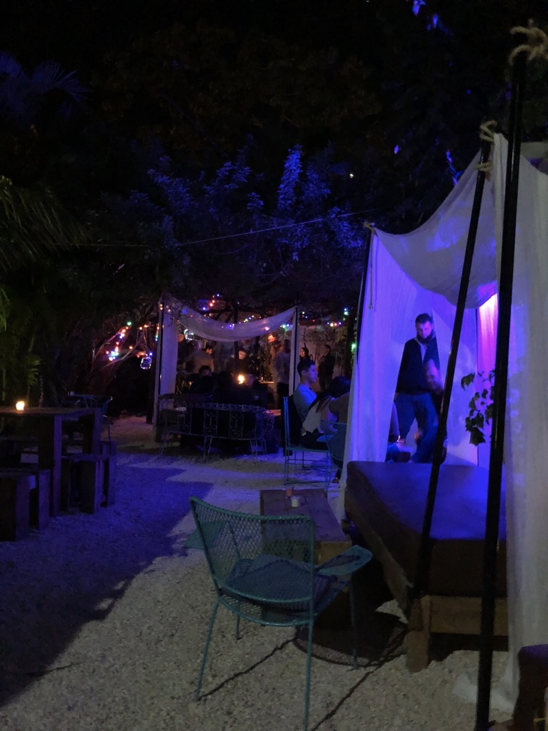 The outdoor party area of Irene's Hostel/Bar