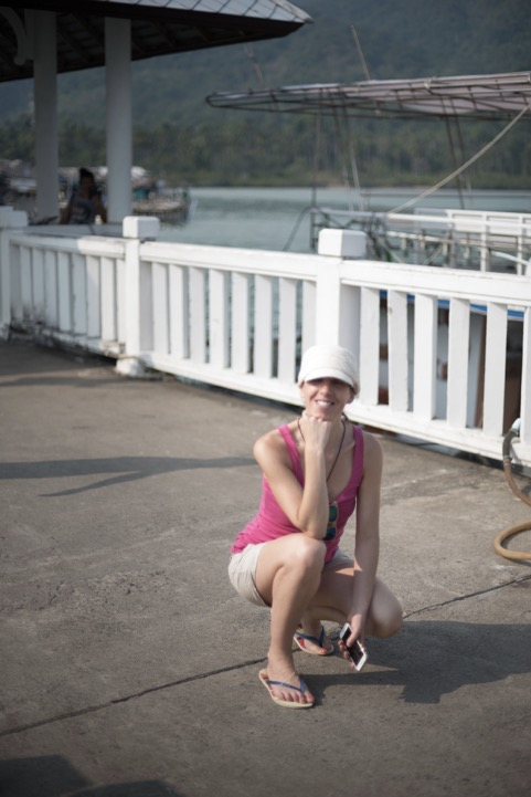 Irene having fun in the heat of Southernmost Koh Chang, Thailand