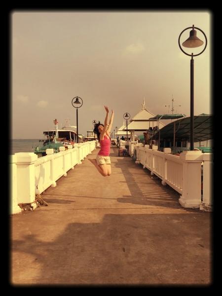 Irene jumping