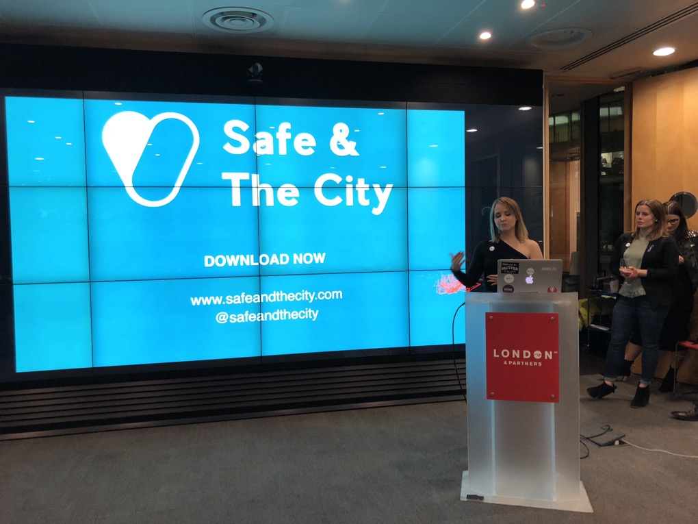 Jillian presenting Safe & The City proudly
