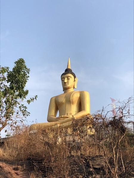 The Big Golden Buddha in Pakse, Laos