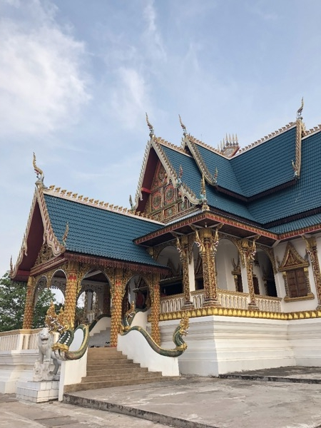 The Temple next to the Big Golden Buddha in Pakse, Laos