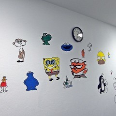 Besucherzimmer Comicfiguren
